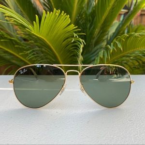 Ray-Ban Aviator Sunglasses RB3025 Gold Frame NEW